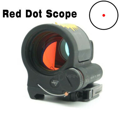 Tactical Optics 1x38 Style Solar Power Reflex Sight Scope Red Dot Mount Black