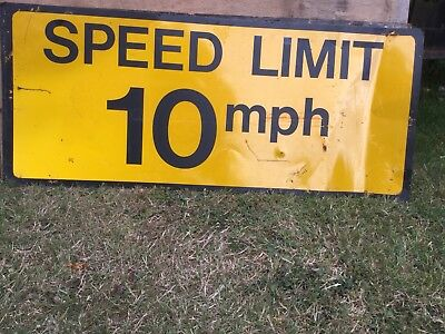 """SPEED LIMIT 10MPH"" Traffic Control Management Road Sign"