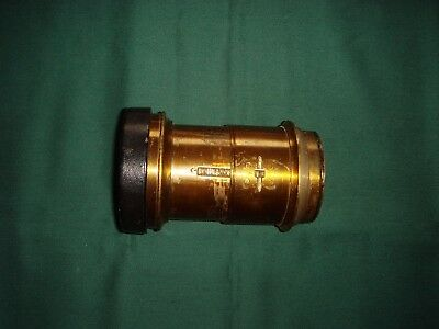 Antique brass camera lens