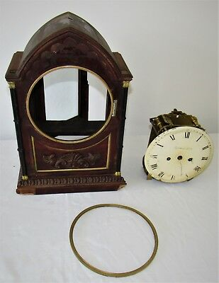 Nice Quality English Gothic Double Fusee Bracket Clock
