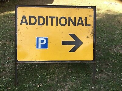 """ADDITIONAL PARKING RIGHT"" Traffic Control Management Road Sign"