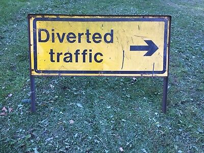 """Diverted Traffic RIGHT"" Traffic Control Management Road Sign"