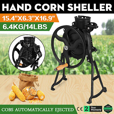 Hand Operate Corn Thresher Sheller Threshing Stripping Machine Stripper Tool New