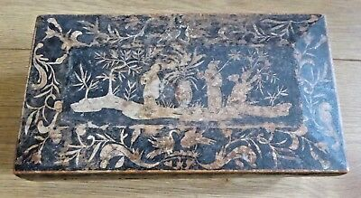 Antique 19th Century Japanese or Chinese Wooden Jewellery Box