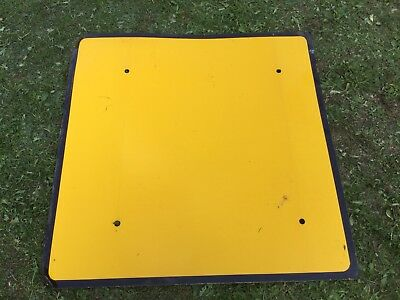 """BLANK 1200mm Quick Fit Plate"" Traffic Control Management Road Sign"