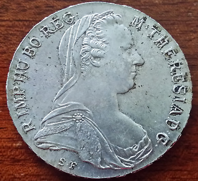 BIG SILVER COIN - 1780 SF Maria Theresa Austria Thaler