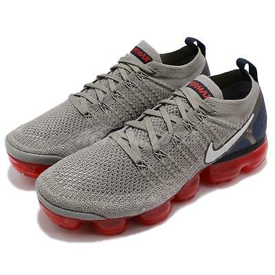 Nike Nike Air Vapormax Flyknit 2 II Dark Stucco Navy Red Men Shoes 942842-010