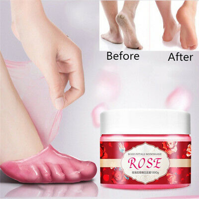 Rose Milk Foot Mask Peeling Repair Cream Remove Callus Hard Dead Skin Care QWHN