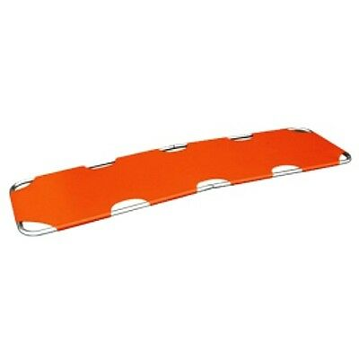 EMS Medical Emergency Aluminum Alloy Flat Rescue Folding Stretcher - Orange
