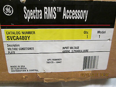 New Ge Spectra Rms Voltage Conditioner Plate Svca480Y