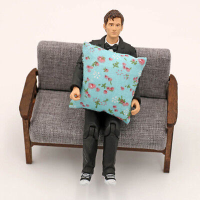 2Pcs flower pillow cushions for sofa couch bed 1/12 dollhouse miniature QWHN