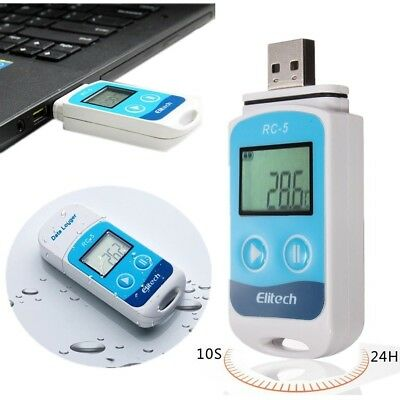 USB Temperature Data Logger RC-5 Pocket Mini Recorder 32000 Points Sensor IP67