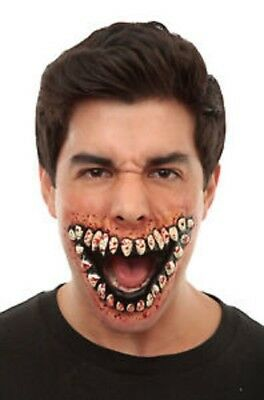 Teeth Grinning Latex Appliance Halloween Flesh Wound Prosthetic Make-up