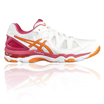 Asics Gel Netburner Super 7 Womens White Netball Court Sports Shoes Trainers