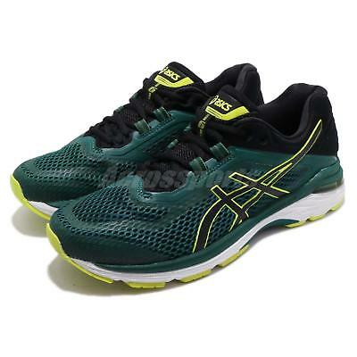 ASICS GT 2000 6 Green Black White Men Running Training Shoes