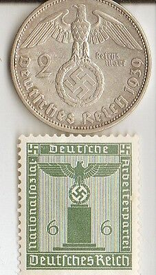 -*wwii  -  *us  and  *german  SILVER  coins  and  STAMPS