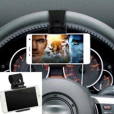 Car Universal Steering Wheel Clip Cradle Stand Mount Holder For Mobile Phone GPS