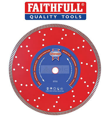 Faithfull 115mm Continu Jantes Turbo Scie / Meuleuse Lame en Diamant