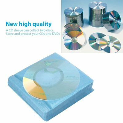100Pcs CD DVD Double Sided Cover Storage Case PP Bag Sleeve Envelope Holder IS