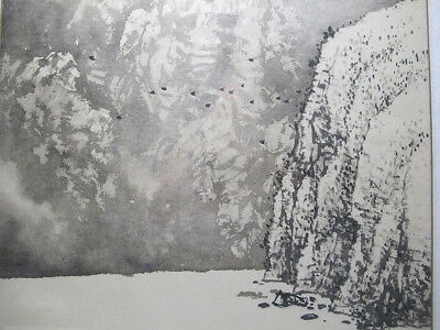 Chinese School Landscape Painting Armless Painter Handicapped - Huang Guofu yqz