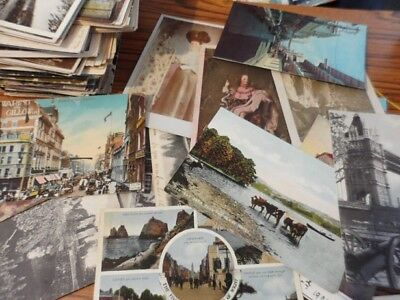 Job Lot of Over 200 Old Postcards some over 100 years old