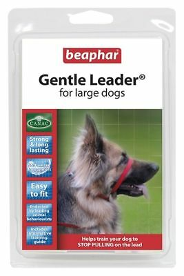 Beaphar Gentle Leader Head Collar Harness Red Large Stops Pulling