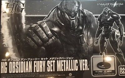 Bandai Pacific Rim Obsidian Fury Metallic Ver. Exclusive Set with Base New Neu