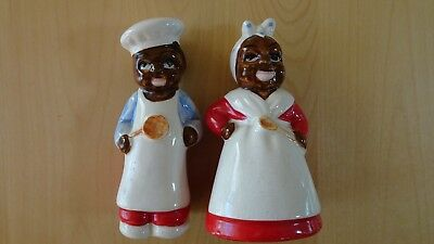 Black Americana Pappy And Mammy Salt And Pepper Shakers