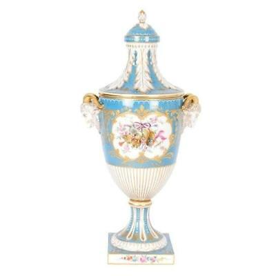 Beautiful Antique Dresden Porcelain Covered Urn Germany