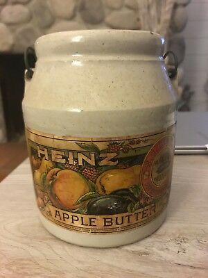 Original Heinz Apple Butter Crock (not a reproduction). Label completely in tact