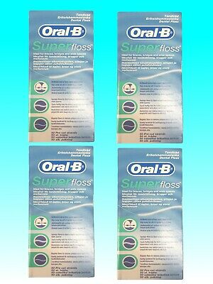 Oral-B Superfloss Zahnseide MINZE 50 Fäden 1er - 4er Pack Floss
