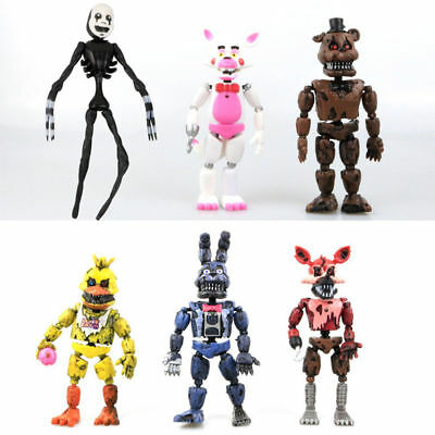 "6 PCS Five Nights At Freddy's FNAF Bunnie Game 6"" Action Figures Doll Toys Gift"