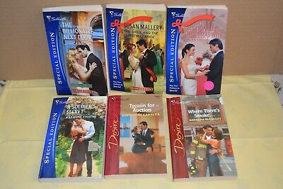 Lot of 9 Silhouette Special Edition & Desire Books