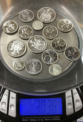 Lot Of (15) Foreign Silver Coins - 3.03 Troy Ounces - Bidding Starts At 99 Cents