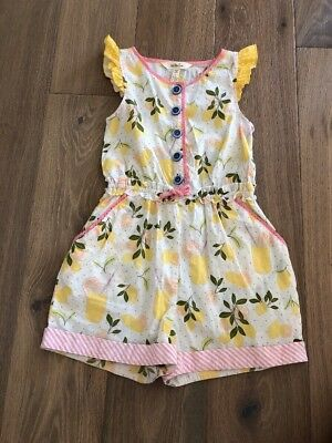 Matilda Jane Girls Let's Make Lemonade Romper sz 8 Adventure Begins