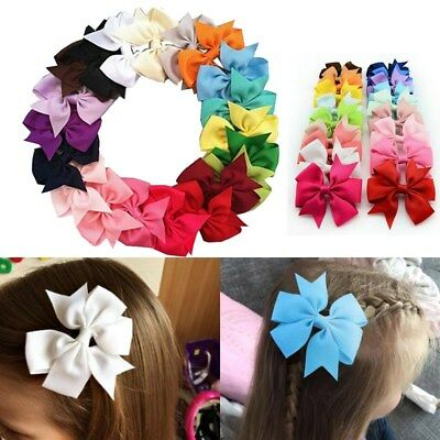 Hair Bows Band Boutique Alligator Clip Grosgrain Ribbon For Girl Baby 20x