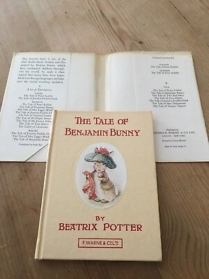 BEATRIX POTTER-THE TALE OF BENJAMIN BUNNY-1st Edition Pocket Book + Dust jacket
