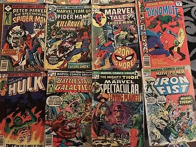 Huge Vintage Comic Book Lot Mixed Marvel DC Comics Batman Hulk Spiderman Archies