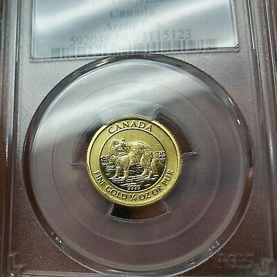RARE PCGS MS68 Canada 2014 $10 Arctic Fox 9999 % Pure Gold Ten Dollars