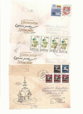 LITHUANIA- Rest of registered covers (6) used internally