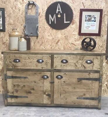 Industrial Up-Cycled Dresser Base