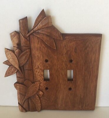 Nice Bamboo Theme Hand Carved Switch Plate For Your Tiki Lounge