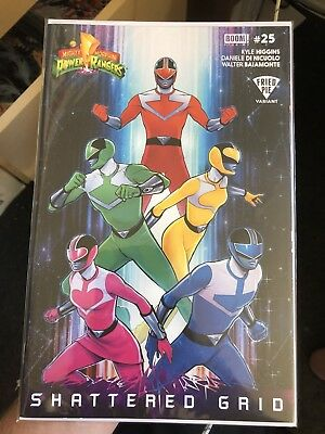 Mighty Morphin Power Rangers #25 Fried Pie Werneck Shattered Grid Variant NM