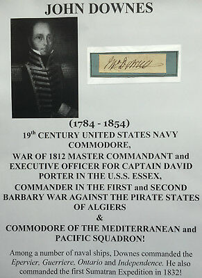 WAR of 1812 NAVY COMMODORE BARBARY WAR PIRATE FIGHTER ALGIERS AUTOGRAPH SIGNED !