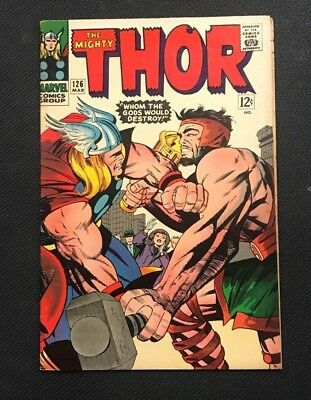 The Mighty Thor #126 1St Official Thor Issue Marvel Comics Silver Age  Rare F