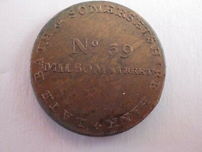 18TH CENTURY TOKEN - SOMERSET - BATH - MILSOM STREET 1/2d
