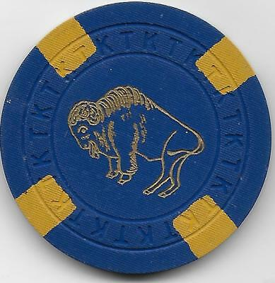 Very Nice Illegal Casino Chip From BISON CLUB-Jackson Hole, Wyoming-CG208425-Cl.