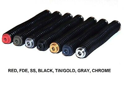 For Glock Gen 1-3 G19,23,32,39 Stainless Steel Guide Rod Assembly Blk,Gry,SS,Tin