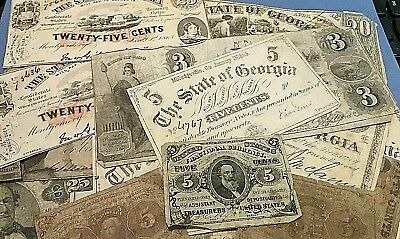 Extremely Rare: Collection of Original Civil War Confederate Currency