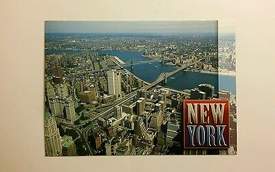 Modern Aerial View - East River from the  World Trade Center - New York City